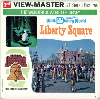 Liberty Square - Walt Disney World - A950 - Vintage Classic View-Master - 3 Reel Packet - 1970s Views