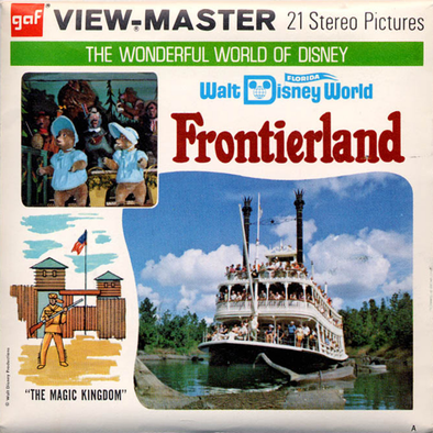 Frontierland - Walt Disney World - A951 - Vintage Classic View-Master 3 Reel Packet - 1970s views