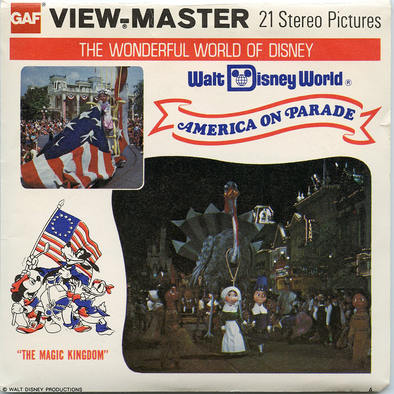 ViewMaster America on Parade - Walt Disney Word - A954 - Vintage Classic - 3 Reel Packet - 1970s Views