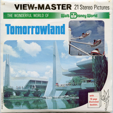 ViewMaster -Tomorrowland - Disney World - Vintage - 3 Reel Packet -1970's views - H19
