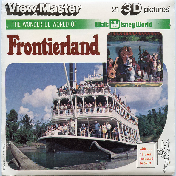 View Master - Frontierland - Walt Disney World - Vintage - 3 Reel Packet - 1970s views - H22