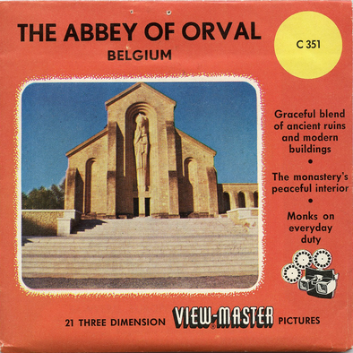 Abbey of Orval - Vintage Classic View-Master(R) 3 Reel Packet - 1950s views