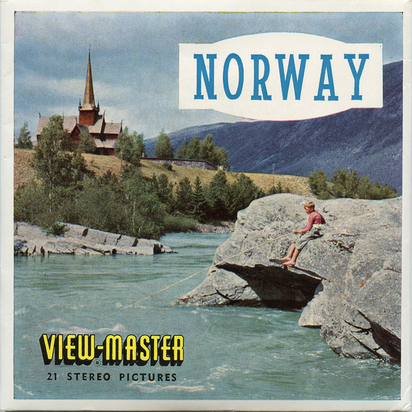 Norway - C500e - Vintage Classic View-Master 3 Reel Packet - 1960s views