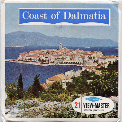 ViewMaster - Coast of Dalmatia - C680 - Vintage Classic - 3 Reel Packet - 1960s views