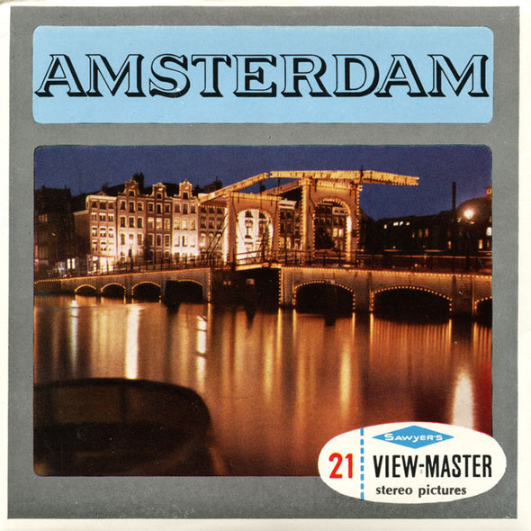 ViewMaster Amsterdam - C388E Vintage Classic - 3 Reel Packet - 1960s views