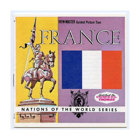 France - Nations of the World Series - B172 - Vintage Classic View-Master - 3 Reel Packet - 1960s View