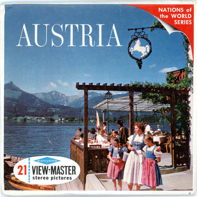 Austria - Vintage Classic View-Master(R) 3 Reel Packet - 1960s views
