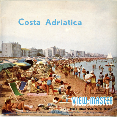 Costa Adriatica - Italy - Vintage Classic View-Master(R) 3 Reel Packet - 1960s views