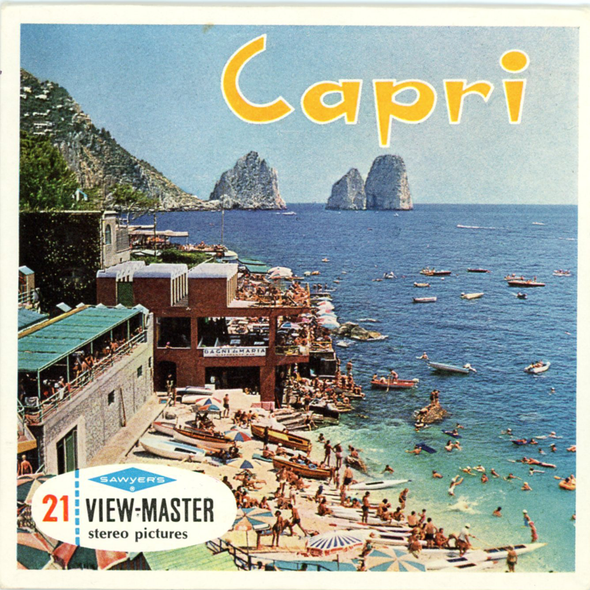 ViewMaster - Capri - Italy - C058E Vintage Classic - 3 Reel Packet - 1960s views