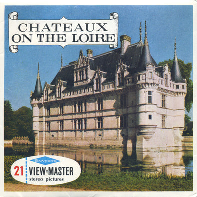 Chateaux on the Loire - Vintage Classic View-Master(R) 3 Reel Packet - 1950s views