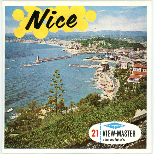 Nice - France - C185 - Vintage Classic View-Master 3 Reel Packet - 1960s views