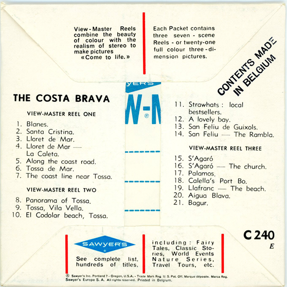 ViewMaster - Costa Brava - C240 - Vintage 3 Reel Packet - 1960s views