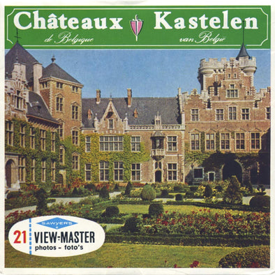ViewMaster - Chateaux Kastelen - C350FN - Vintage Classic - 3 Reel Packet - 1950s views