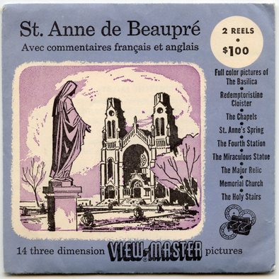 ViewMaster - St. Anne de Beaupre - Vintage 2 Reel Packet - 1950s views