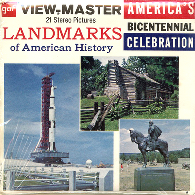 Landmarks of American History  - Vintage Classic View-Master® - 3 Reel Packet - 1970s Views