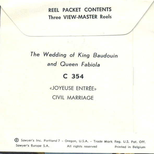 The Royal - Wedding - Belgium - C354 - Vintage Classic View-Master - 1960s Views