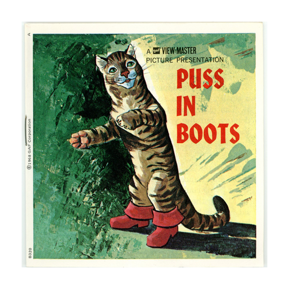 ViewMaster - Puss in Boots - B320 - Vintage -3 Reel Packet - 1970s views