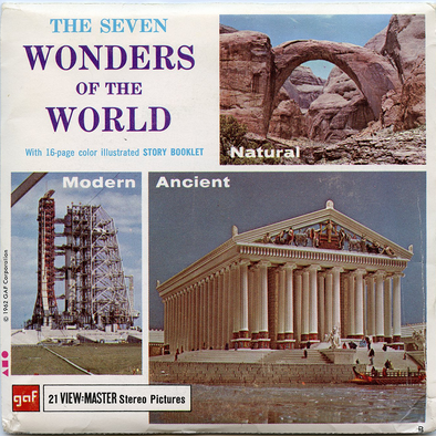 Seven Wonders of the World - B901- Vintage Classic View-Master 3 Reel Packet - 1960s views