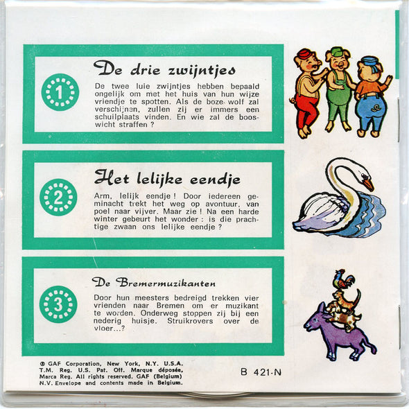 Three Little Pigs - B421 - Vintage Classic View-Master - 3 Reel Packet - 1970s Views