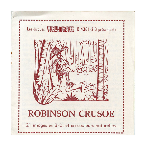 ViewMaster Robinson Crusoe - B438 - Vintage Classic - 3 Reel Packet - 1960s views