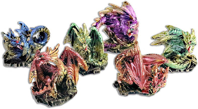 miniature translucent color dragons
