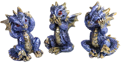 miniature blue dragon figurines