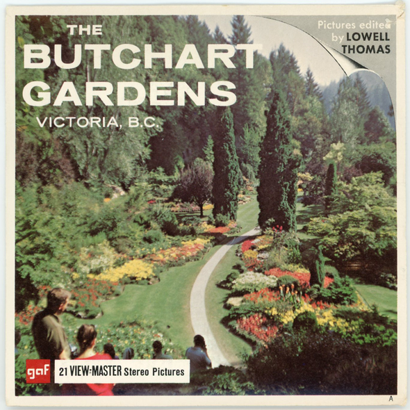 View-Master - Flowers-Gardens-Caves - The Butchart Gardens
