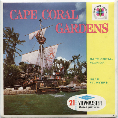 Cape Coral Gardens - Vintage Classic View-Master(R) 3 Reel Packet - 1960s Views