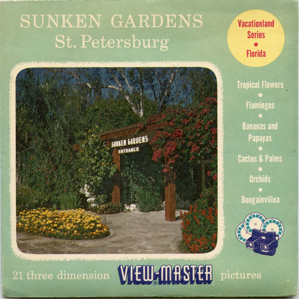 View-Master - Flowers-Gardens-Caves - Sunken Gardens - Vacationland Series