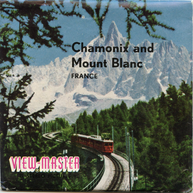 ViewMaster -Chamonix and Mount Blanc - France - C181f - Vintage Classic - 3 Reel Packet - 1960s views