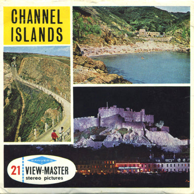 Channel Islands  -  Vintage Classic View-Master® - 3 Reel Packet - 1960s Views