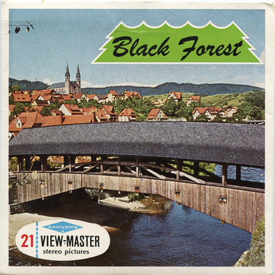 ViewMaster Black Forest - Germany - C410E - Vintage Classic -3 Reel Packet - 1960s views