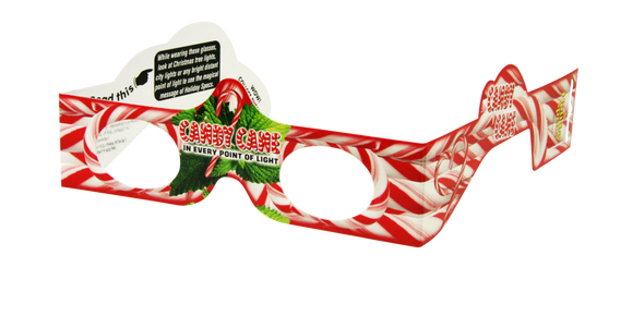 Christmas Glasses Holiday Eyes® - Candy Canes
