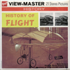 History of Flight - B865 - Vintage Classic View-Master(R) 3 Reel Packet - 1970s