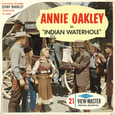 ViewMaster Annie Oakley - Indian Waterhole - B470 - Vintage Classic - 3 Reel Packet - 1960s