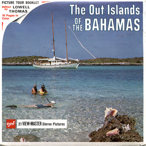 ViewMaster - Out Islands of the Bahamas -B028 - Vintage -3 Reel Packet - 1960s views