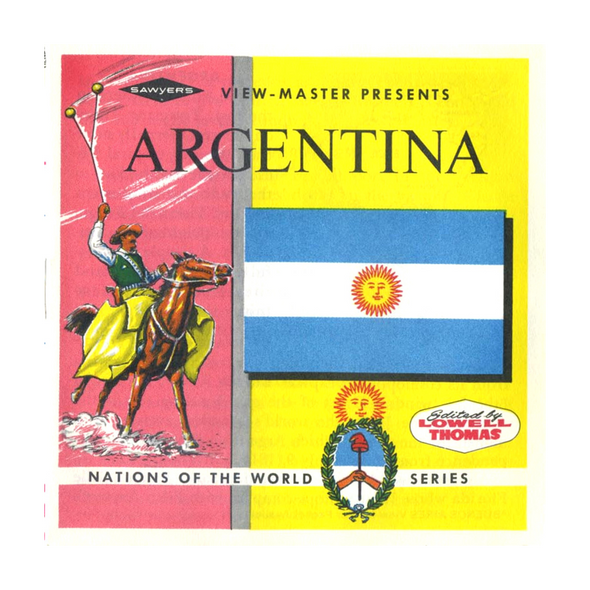 Argentina  -Vintage Classic View-Master 3 Reel Packet - 1960s views