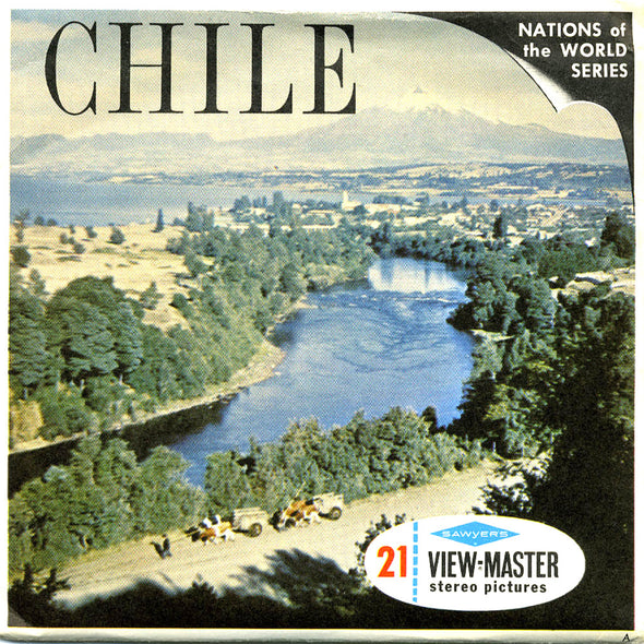Chile, South America  -Vintage Classic View-Master 3 Reel Packet - 1960s views