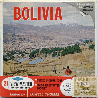 ViewMaster - Bolivia - Stamp - B082 Vintage - 3 Reel Packet - 1960s views
