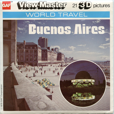Buenos Aires - Argentina - k23 - Vintage Classic View-Master 3 Reel Packet - 1970s views