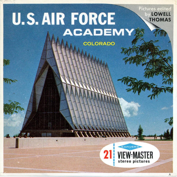 U.S Air Force Academy -A326-Colorado -  Vintage Classic View-Master(R) 3 Reel Packet - 1960s views