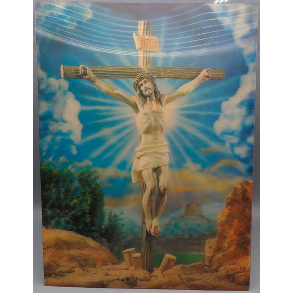 Crucifixion - Ascension - 3D Action Lenticular Poster - 12 X 16