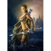Warrior Girls with Knives - Triple Views - 3D Action Lenticular Poster - 12x16 - 3 Prints in 1
