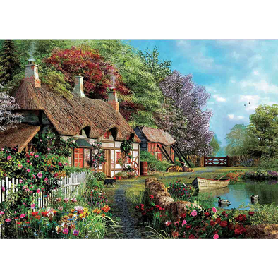 Country Village Setting - 3D Lenticular Poster - 12x16 Print