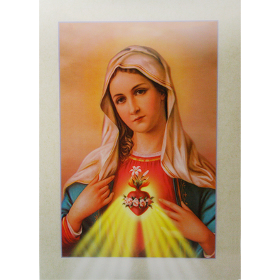 Our Lady of Immaculate Heart - Religious - 3D Lenticular Poster - 12x16 Print