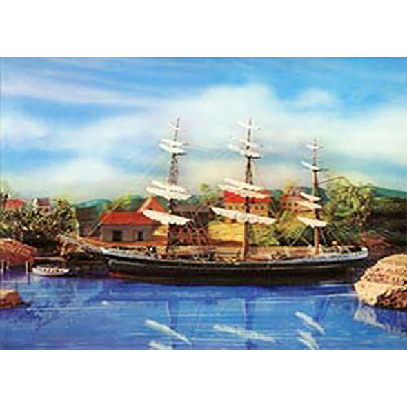 Clipper Ship at Anchor - 3D Lenticular Poster - 8 X 10
