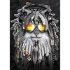 Dreadlock Pot Heads Animals - Triple Views - 3D Action Lenticular Poster - 12x16 - 3 Prints in 1