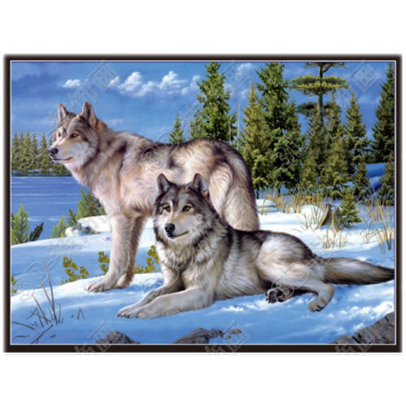 Wolves - Triple Views - 3D Action Lenticular Poster - 12x16 - 3 Prints in 1