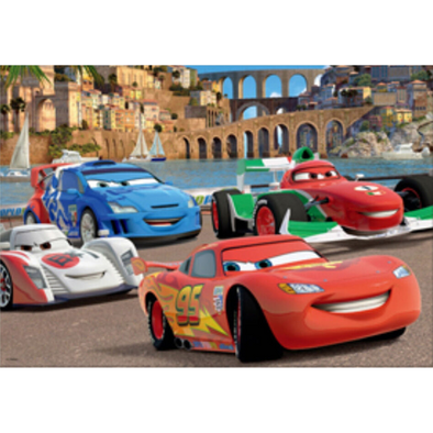 Disney Cars 2 - Racing in Italy - 3D Lenticular Poster - 10x14