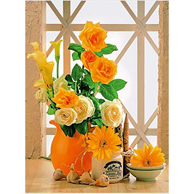Floral still life yellow flowers  - 3D Lenticular Poster - 12x16